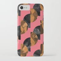 black and gold iPhone & iPod Cases featuring gold,black by Georgiana Paraschiv