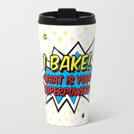 Happy Superhero Baker Travel Mug