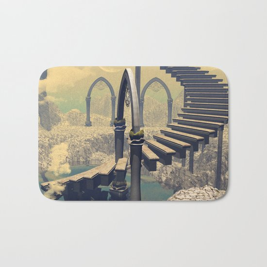 The treppe in the sky Bath Mat