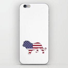 "Lion ""American Flag"" iPhone Skin"