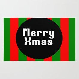 merry Xmas funny logo pattern Rug