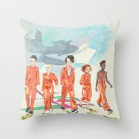 misfits Throw Pillows featuring Misfits by aNiark