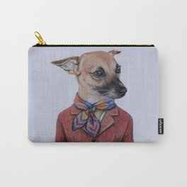 dog in uniform Carry-All Pouch