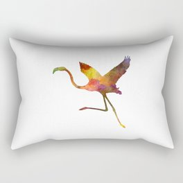 Flamingo 02 in watercolor Rectangular Pillow