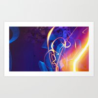 Chaos and Lines - Intro to Lightfight Art Print