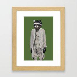 Raccoon wearing Ann Demeulemeester Framed Art Print