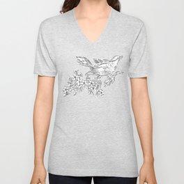 Vintage Bird Unisex V-Neck