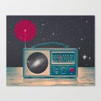 radio Canvas Prints featuring Space Radio by Victor Vercesi