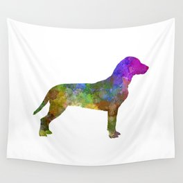 Slovakian Hound in watercolor Wall Tapestry