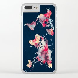 world map 69 Clear iPhone Case