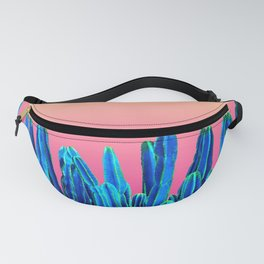 Candy Sunset Blue Cactus Glitch Fanny Pack