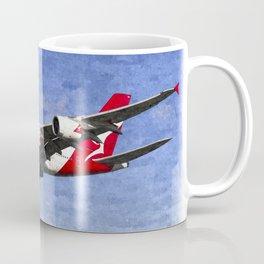 Qantas Airbus A380 Art Coffee Mug