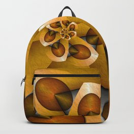Rising, Modern Fractal Art Spiral Backpack
