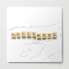 Hollywood Scrabble Metal Print