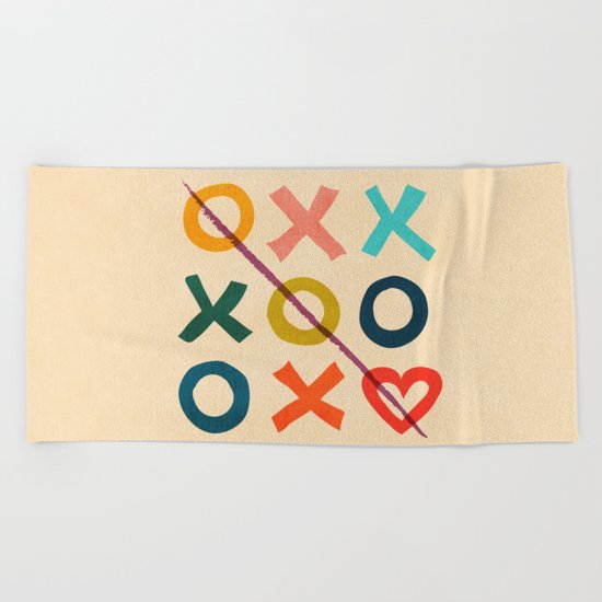 xoxo Love Beach Towel