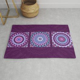 Mandala Collage violett Rug