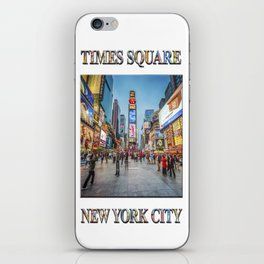 Times Square Sparkle (with typography) iPhone Skin