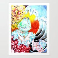 Thirsty Fishes Art Print