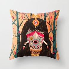 The Tree Witch Throw Pillow