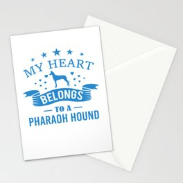My Heart Belongs To A Pharaoh Hound wb Stationery Cards