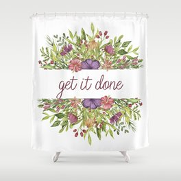 Get it done - Wild Flowers Collection Shower Curtain