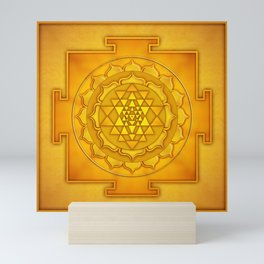 Golden Sri Yantra II Mini Art Print