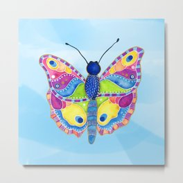 Butterfly II on a Summer Day Metal Print