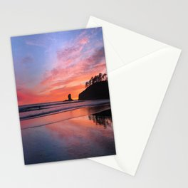 Second Beach Sunset Stationery Cards