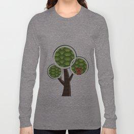 Grumpy owl in the tree Long Sleeve T-shirt