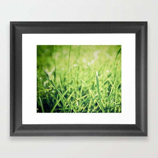 The grass isn't always greener on the other side! Framed Art Print