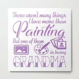 Painting Grandma Metal Print