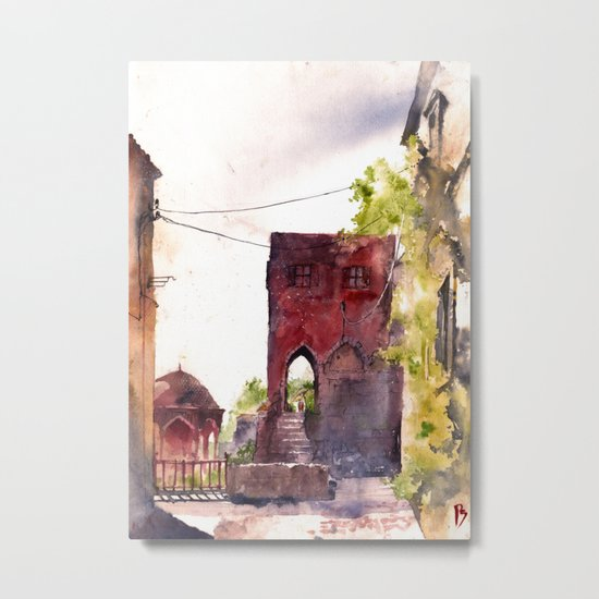Rhodes old town streets Metal Print