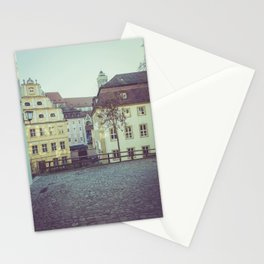 Colorful low rise residences in a town Stationery Cards