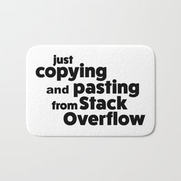Stack Overflow Bath Mat