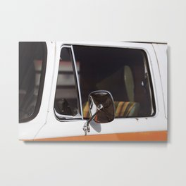 Orange Bus Drivers Seat Metal Print