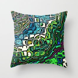 Abstract Blocks of Color Throw Pillow