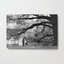 under the oak Metal Print