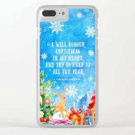 I will honour christmas in my heart Clear iPhone Case
