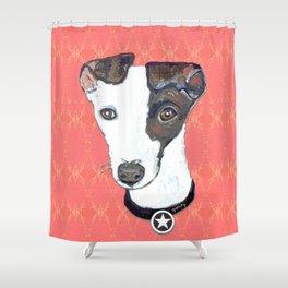 Greyhound Portrait Shower Curtain