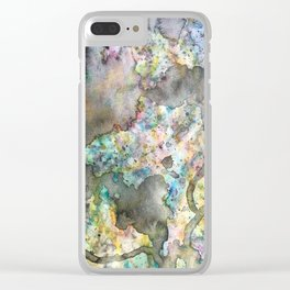 Spilled Chaos Clear iPhone Case