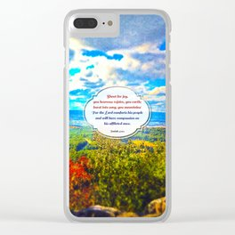 Shout for Joy! Clear iPhone Case