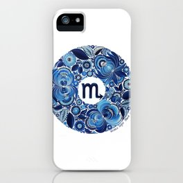 Scorpio in Petrykivka Style (with artist's signature/date) iPhone Case