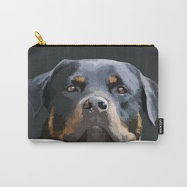 Rottweiler Portrait Vector Carry-All Pouch