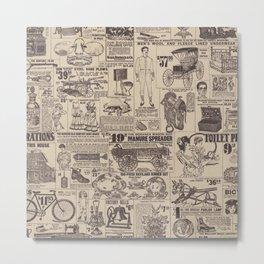 vintage newspaper Metal Print