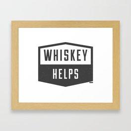 Whiskey Helps Framed Art Print