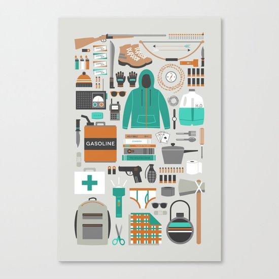 Zombie Survival Kit Canvas Print