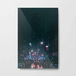 Night Life New York City (Color) Metal Print
