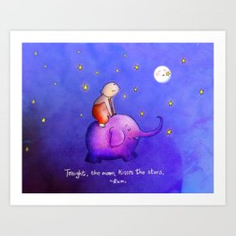 Moon Kisses Art Print