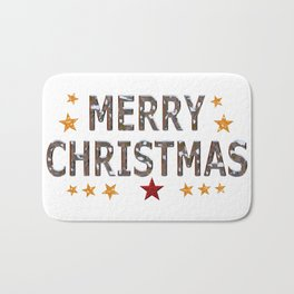 Merry Christmas Chrome Bath Mat