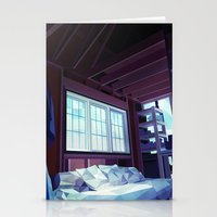 cabin Stationery Cards featuring Cabin by Kiana